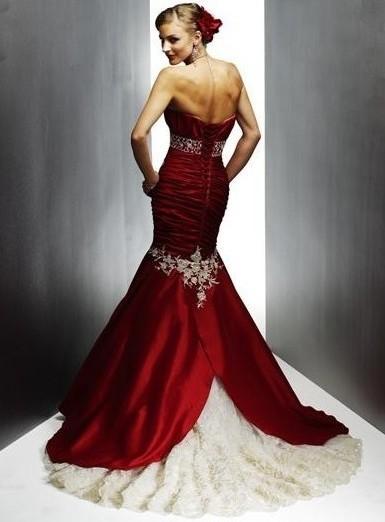 Wine Wedding Dress