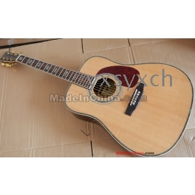 free shipping wholesale Top quality D45 Cream-colored ACOUSTIC GUITAR NATURAL BEST VENEER guitar