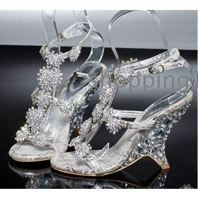 TOP Quality New Style Rhinestone Shoes Wedding Shoes Birde Shoes Sandal  Shoes For Size:
