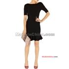 Wholesale - Women's Evening Dresses -neck Bandage Nude color stretch essential-D159