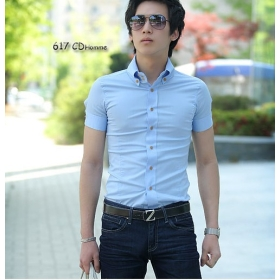 Slim fit short sleeve shirts for men is shirt for Dress shirt fitted vs slim