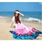 New Fashion V neck Floral dress,Bohemian style Maxi Chiffon Long skirt,free shipping-06