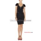 Wholesale - Women's Evening Dresses -neck Bandage Nude color stretch essential