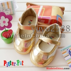 Wholesale - gold toddler shoes for girls dress up princess shoe non-skid First Walker