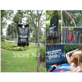SOLAR PORTABLE OUTDOOR CAMP CAMPING SHOWER SHOWERING WATER HEATER HEATING BAG 20L/ 5 Gallon