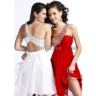 madeinchina 2012 Organza Satin One Shoulder Beading Backless  Length prom Dress party evening gown dress ball gown