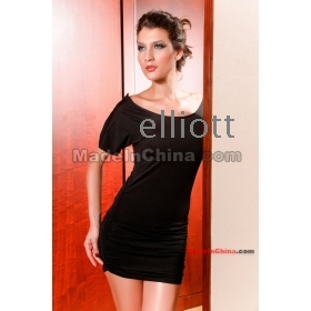 Free shipping  - Ms. Sexy women bag hip clubs of cultivate one's morality dress with short sleeves, dresses