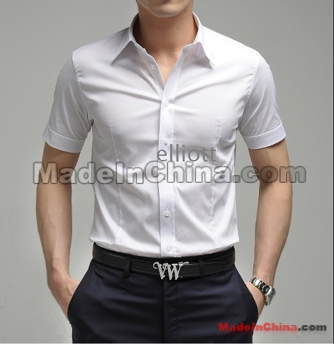 Korean Men S Super Slim Shirt Men S Cotton Shirt