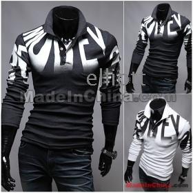 Wholesale - HOT new arrive Slim Letters printed men's t shirts men's clothing men's shirts 2392