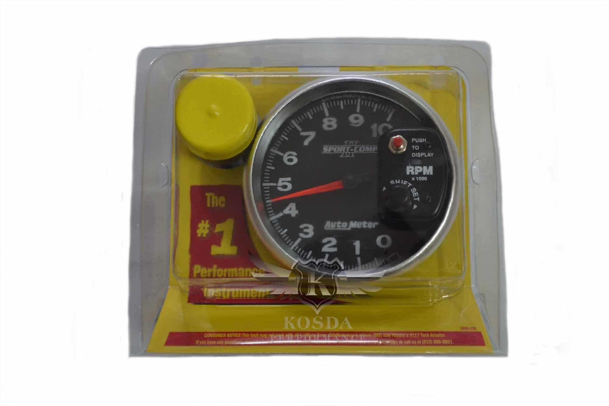autometer sport comp ii 5 shift light tachometer. Black Bedroom Furniture Sets. Home Design Ideas