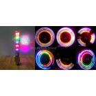 in stock motorcycle car MTB bike bicycle 5LED wheel lights gas nozzle lights valve tyre lights 32changes colorful
