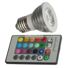 5W E27 RGB LED Ball Lamps with Remote Control Detailed Product free shipping