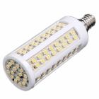 E14 led bulb Lamp 550LM 200V-230V 5.5W 112 SMD 3528 LED Corn Light Bulb Lamp warm white/ White led lighting free shipping
