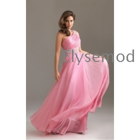 Prom Dress Shop on Buy One Shoulder Chiffon Hot Pink Prom Dresses 2013 From Madeinchina