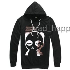 Free Shipping autumn fashion Panda cartoon Slim Hooded men's sweater W4091 men tops