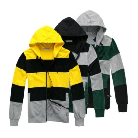 Free Shipping autumn fashion Men thick cotton hooded striped cardigan sweater W4092 men tops
