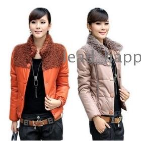 Free shipping 2011 new women's autumn winter stylish casual short cotton 518B-613 coats jacket dresses skirt