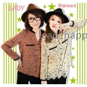 Free shipping women tops and blouses 2013 new fashion korean clothes epaulets star long-sleeved shirt 313 women's shirt