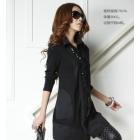 Free shipping 2013 women's Sexy long-sleeved Chiffon dress shawl 9001 classic colors coats jacket dresses