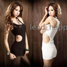 Free shipping Slim openwork nightclub 2013 fashion dress korean clothes sexy package hip vest white dress 5068 women's dresses