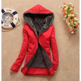 Free shipping autumn women hoodie thickening wool liner long-sleeve with a hood plus velvet wadded jacket loose sweatshirt