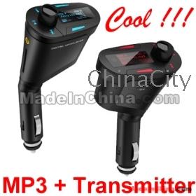 Car MP3 Player Wireless FM Modulator Transmitter With USB SD MMC Slot Free Express10pcs/lot