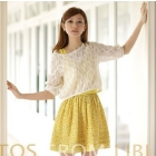 Free Shipping women's NEW Floral  crochet knitting with vest skirt two-piece dress