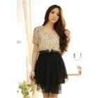 Free Shipping fashion 16-9318 wave irregular mosaic dress skirt Woman's clothes