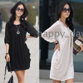 NEW women Sexy summer 6628 # 2012 new large size dress chiffon skirt tops