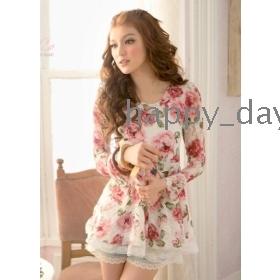 Free Shipping fashion N413-961 2012 Rose  chiffon dress women's clothes