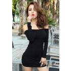 Free Shipping A88-8019 fall winter fashion club strapless dress sexy tight skirt women's clothes