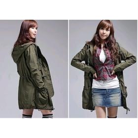 Free Shipping fashion 308-3013 Hooded windbreaker jacket Fall Winter coats women's clothes