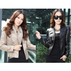 Free shipping clothes Fall winter fashion 318-246 PU leather women's casual jacket coats