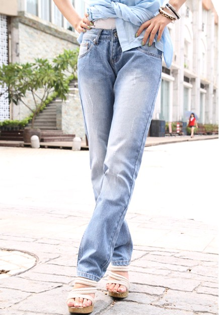 fashion A7 9736 light colored jeans wear track – Wholesale ...