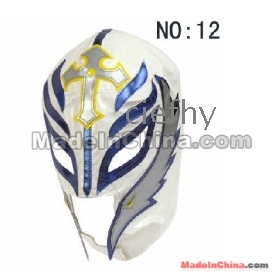Free shipping! new White WWE Rey Mysterio 619 MASK artificial leather and nylon