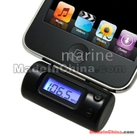 Remote Control FM Transmitter With Car Charger for iG 3GS 3G 2G  Video Free Shipping