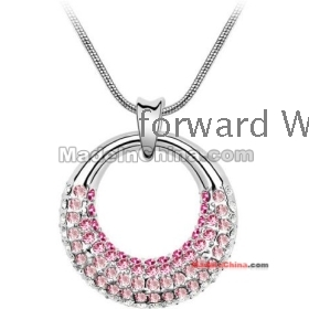Free Shipping factory wholesale brand new Jewelry Fashion Crystal necklace v1