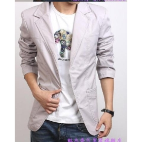 Men's Slim small male suit jacket Korean version of the Slim suit male leisure suit u2
