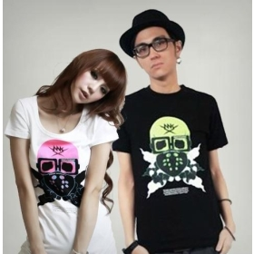 men's and women's lovers T-shirt Skull  T-shirt lovers T-shirt