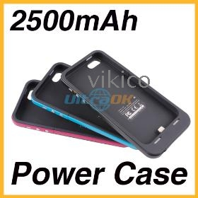 2500mAh Extended Backup Battery Charger Power Bank Case Cover For i