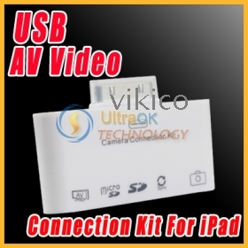 5-in-1 5 in 1 all in 1  Camera Connection Kit USB AV Video Cable Accessories For  white new