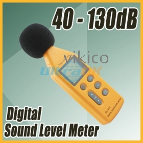 Digital Sound Noise Level Meter detector Decibel Pressure  2-level 205g yellow new free shipping
