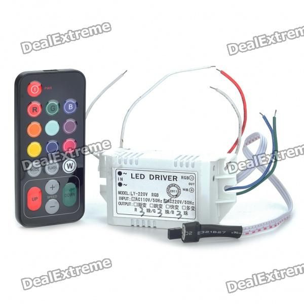 Led Remote Driver 10w Rgb Led Driver With Remote
