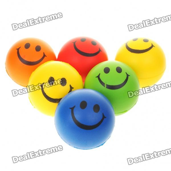 Smile Face Relax Stress Relief Balls Squeezable
