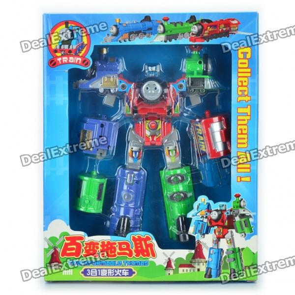 Robots Train Transformer Assembly Toy Red Green