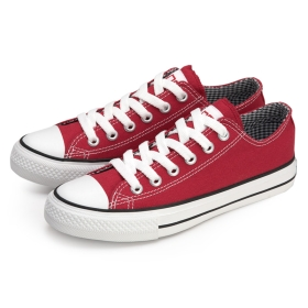 VANCL Classic VANCL Canvas Shoes Red SKU:30120
