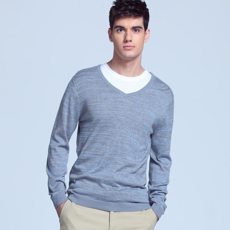 VANCL Light Weight V Neck Sweater Pale Blue SKU – Wholesale VANCL ...