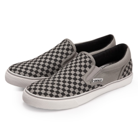 VANCL VANCL's Street Culture Slips Canvas Shoes(MEN's) Grey Checks SKU:30223