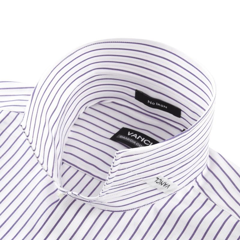 Purple and black striped dress shirt