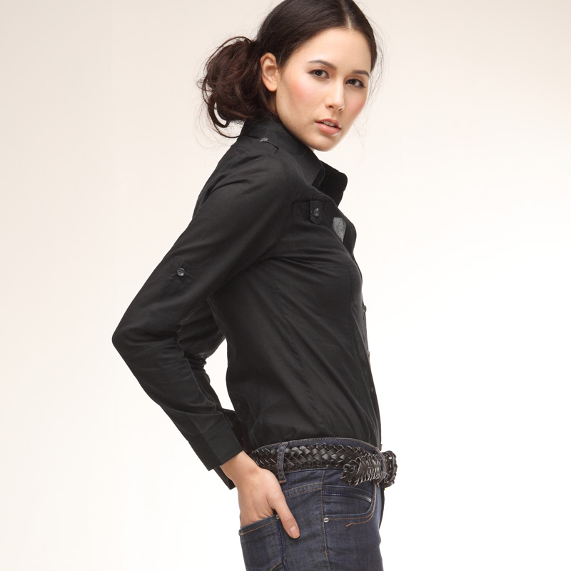 Black Cotton Shirt Womens | Is Shirt